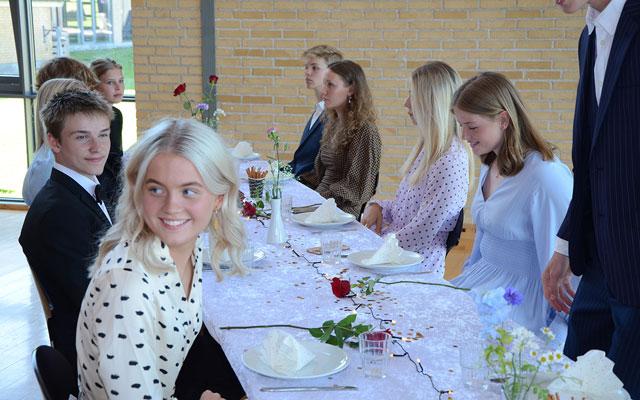 Elever til galla på Vejstrup Efterskole