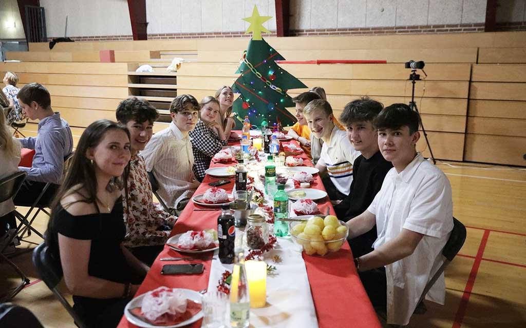 elever til juleafslutning