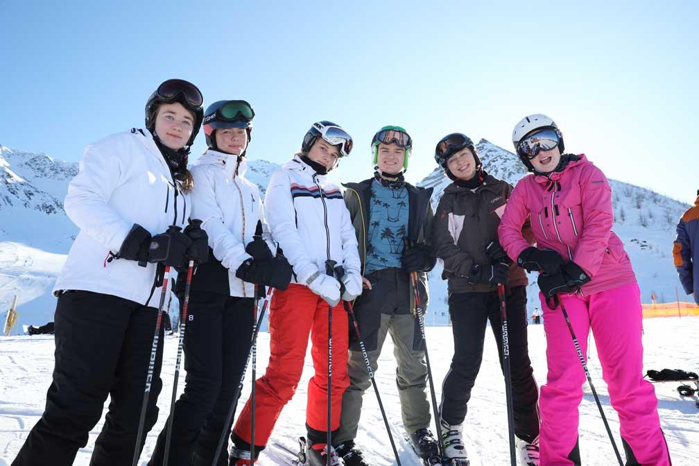 fællesskabet er i fokus på skituren